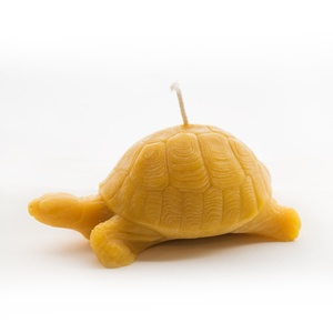 Lying Turtle Beeswax Candle